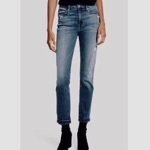 Frame Le High Straight Cropped Ankle Jeans 29
